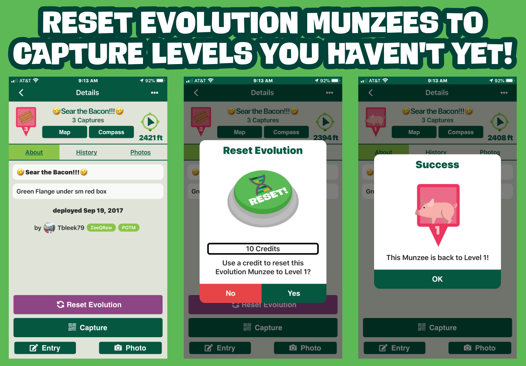 Reset Evolution Munzee